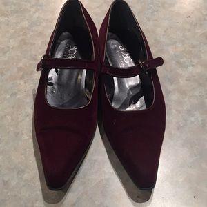 BCBG Max Azria velvet Mary Jane shoes